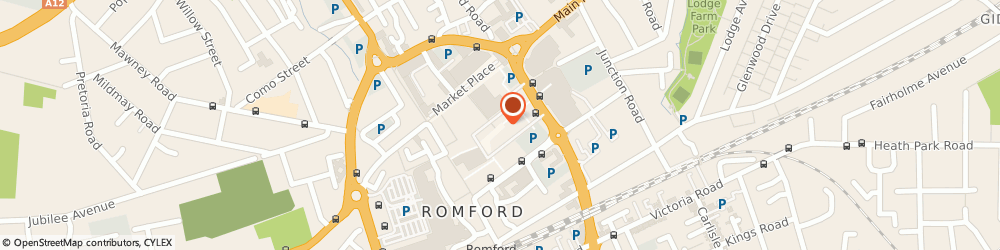 Route/map/directions to Beleaf, RM1 3RL Romford, The Liberty