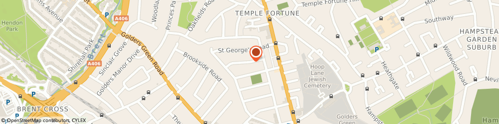 Route/map/directions to Georgeous Gowns, NW11 0LY London, 33 Highcroft Gardens