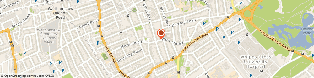Route/map/directions to Goddard Veterinary Group - London, E17 9BU London, 117 Grove Road