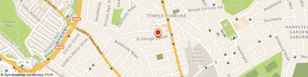 Route/map/directions to Anytime Locksmiths Hampstead, NW11 0LR London, St George's Rd