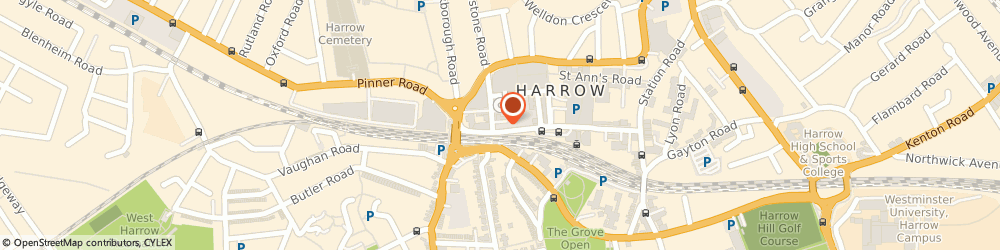 Route/map/directions to Evolution Financial Services, HA1 1BQ Harrow, 130 College Rd, Middlesex House