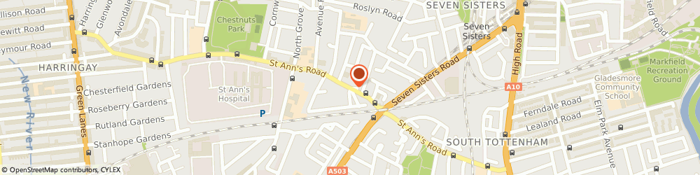 Route/map/directions to J Reid Pianos, N15 5RP London, 184 St Ann's Rd