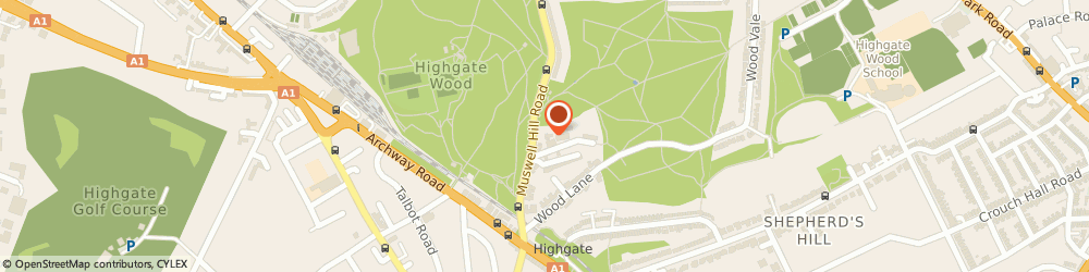 Route/map/directions to HIREBASE, N6 5UN London, 40 Muswell Hill Road