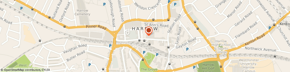 Route/map/directions to Lawrence Grant, Chartered Accountants, HA1 1BE Harrow, 2nd Floor, Hygeia House, 66 College Road
