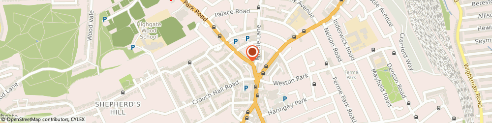 Route/map/directions to Ginger & Mint, N8 8TE London, 11 Park Road