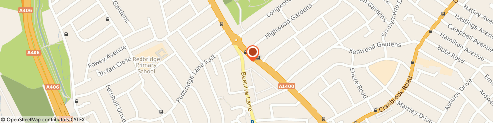 Route/map/directions to K&S FUELS LIMITED, IG4 5EE Ilford, 202 Beehive Lane