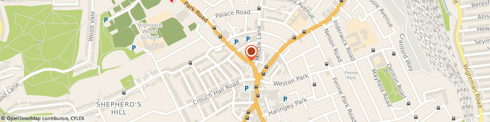 Route/map/directions to Frameworks, N8 8TE London, 17 PARK ROAD