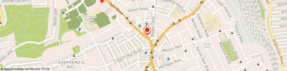 Route/map/directions to Rhoda, N8 8TE London, 25 Park Road