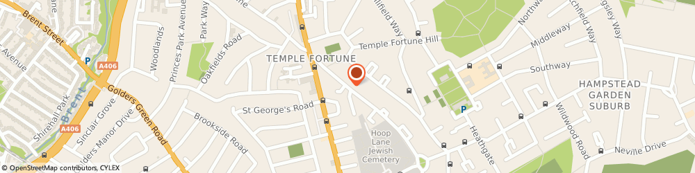 Route/map/directions to The Hans Tasiemka Archives, NW11 7TU London, 80, TEMPLE FORTUNE LANE