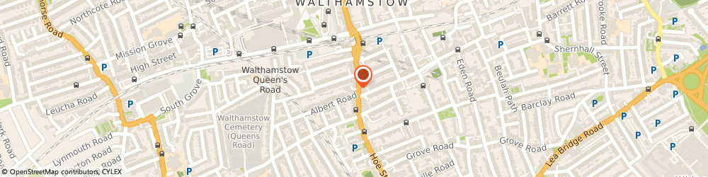 Route/map/directions to Top Cars Minicab, E17 9PX London, 322 Hoe St