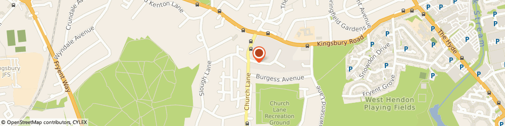 Route/map/directions to Rauf Accountants, NW9 8UA London, Kingsbury House, 468 Church Lane