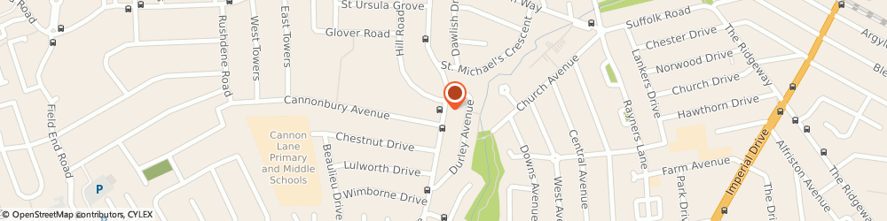 Route/map/directions to Kumon Education Rayners Lane Study Centre, HA5 1JD Pinner, Cannon Lane