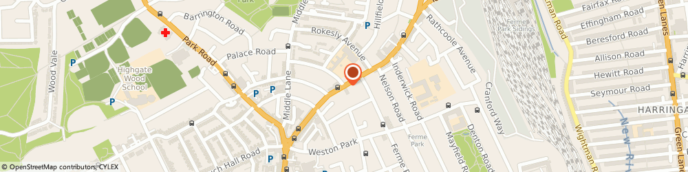Route/map/directions to YMCA, LONDON, N8 8SG London, 184 Tottenham Lane, Crouch End