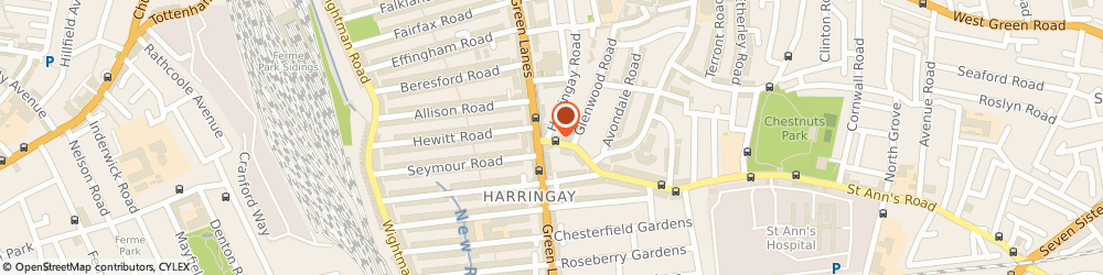 Route/map/directions to Haringey Cars, N15 3JH London, 452, ST. ANNS ROAD