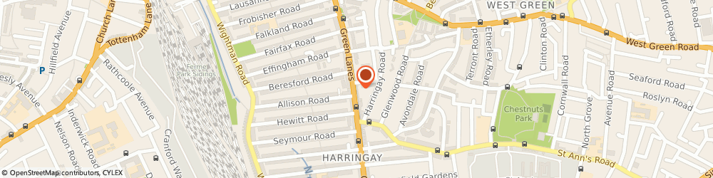 Route/map/directions to PENGUIN MUSIC SCHOOL LTD, N8 0RP London, 584 Green Lanes