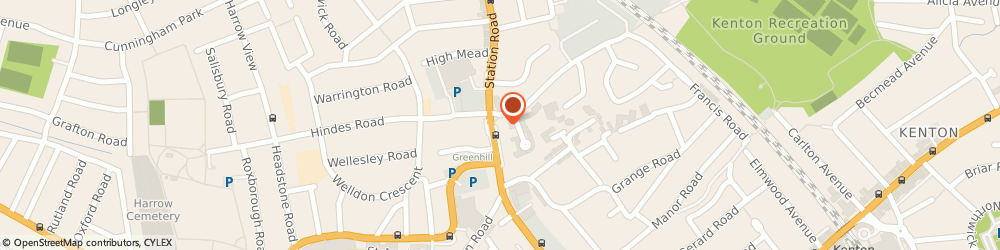 Route/map/directions to J A Massey & Sons Funeral Directors, HA1 2RH Harrow, 142 Station Road