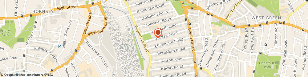 Route/map/directions to North Locksmith Services, N8 0NG London, Fairfax Rd, Crouch End