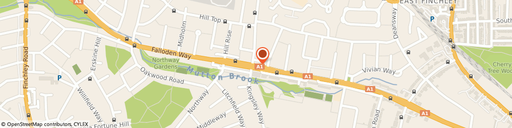 Route/map/directions to Barclays Bank PLC, N2 0DP London, 1/3 Lyttelton Road Hampstead Garden Suburb