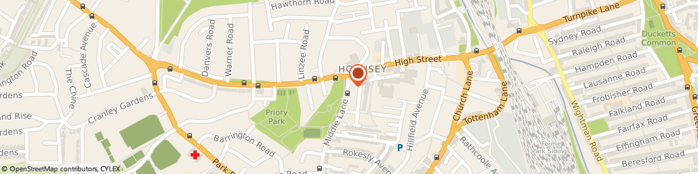 Route/map/directions to Mishka Vintage Clothing, N8 7LA London, 212a Middle Lane