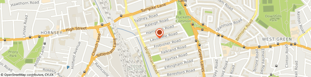 Route/map/directions to Ms Catherine Tutton - Psychotherapist, N8 0HJ London, 33 LAUSANNE ROAD