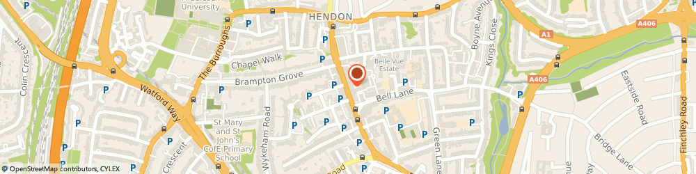 Route/map/directions to roundtree real esatate, NW4 2EL London, 1 sentinel square
