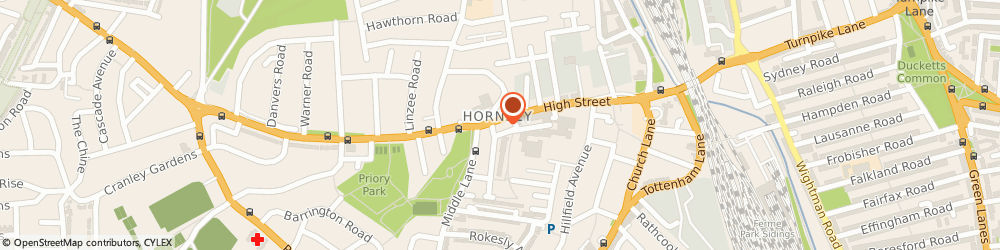Route/map/directions to Gold Needle Ltd, N8 7PB London, 20 High Street