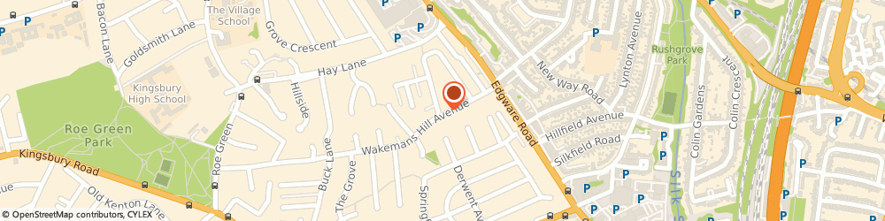 Route/map/directions to EPH Developments Ltd, NW90TY London, 38 Wakemans Hill Avenue