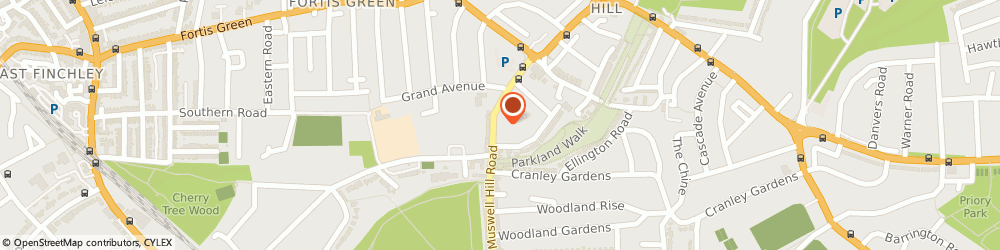 Route/map/directions to Greygates Nursery, N10 3NG London, 182 Muswell Hill Road