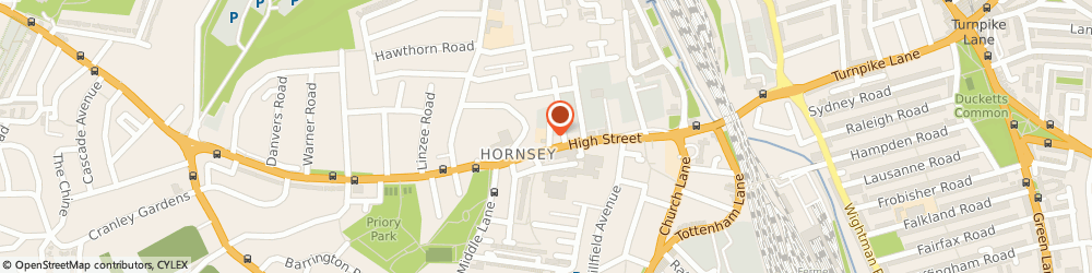 Route/map/directions to The Hap'ning Place, N8 7PN London, 3 The Campsbourne