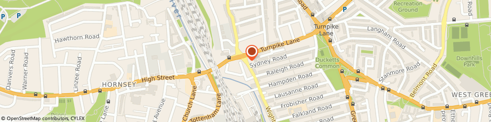 Route/map/directions to Hornsey Appliances Ltd, N8 0LT London, 288 Wightman Rd