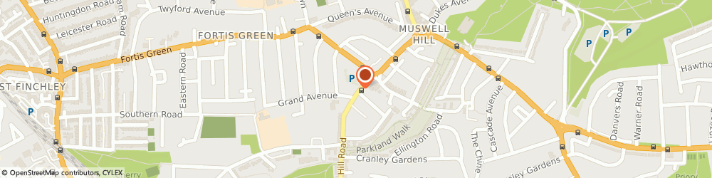 Route/map/directions to YOGA LOOM, N10 3HS London, 103, Muswell Hill Rd