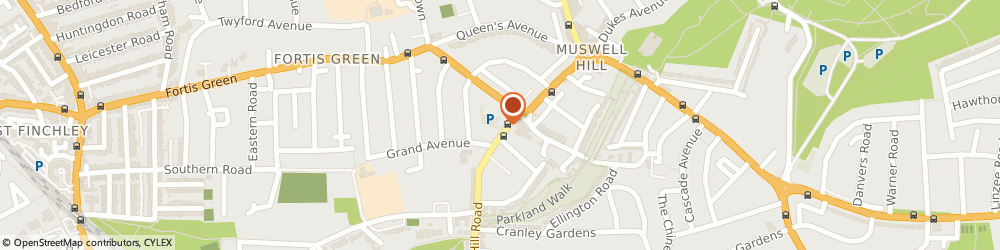 Route/map/directions to Pop Hair, N10 3HS London, 107 MUSWELL HILL ROAD