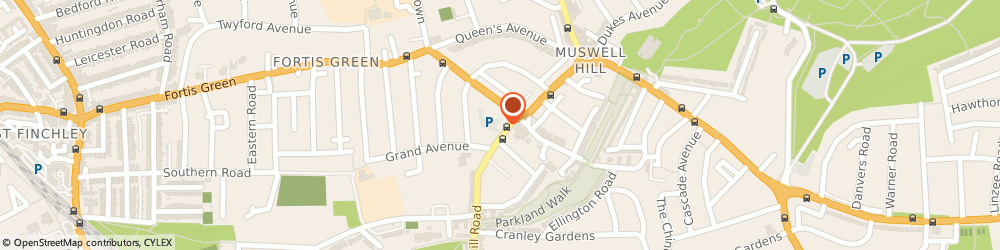 Route/map/directions to End of Tenancy Cleaning Muswell Hill, N10 3HS London, 109 Muswell Hill Road