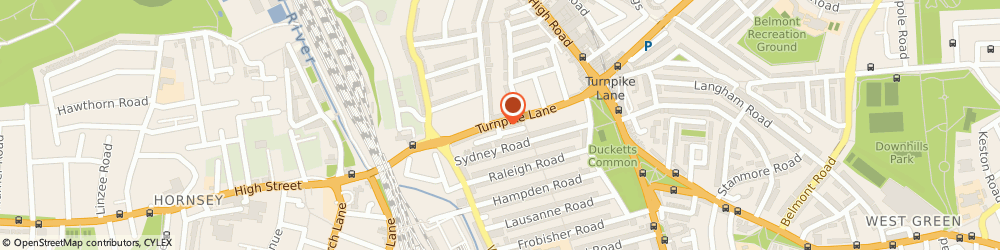 Route/map/directions to Anika Sarees, N8 0EE London, 75-77 Turnpike Lane
