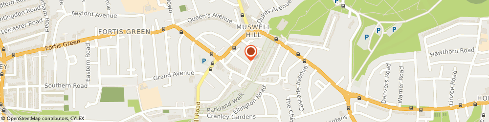 Route/map/directions to Total Self Defence, N10 3PJ London, Dragons Health Club, Hillfield Park