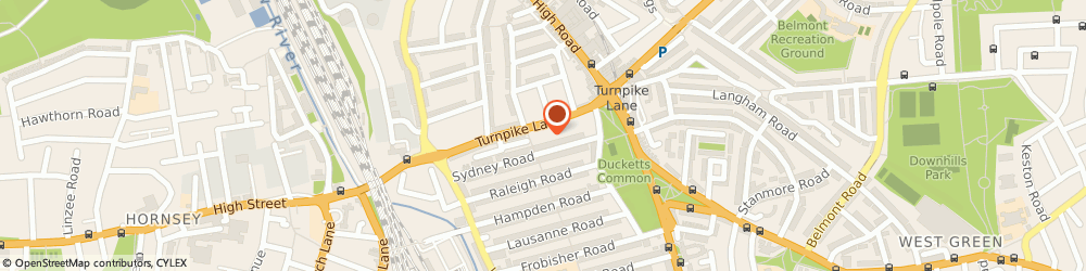 Route/map/directions to Double Apple Restaurant, N8 0EP London, 39 Turnpike Ln
