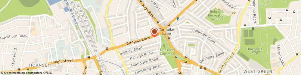 Route/map/directions to Nila Sarees, N8 0EP London, 17A Turnpike Ln