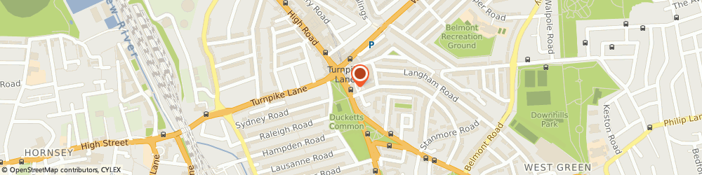 Route/map/directions to Rita Models, N15 3EA London, 6 Turnpike Parade, Green Lanes