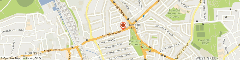 Route/map/directions to Final Touches (Uk), N8 0PS London, BARNETTS 34 TURNPIKE LANE