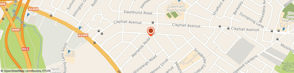 Route/map/directions to Thasha Service Ltd, IG5 0JJ Ilford, 85 MARLANDS RD