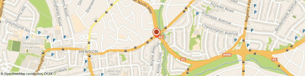 Route/map/directions to NW4 Hendon Locksmiths, NW4 1DB London, Finchley Ln