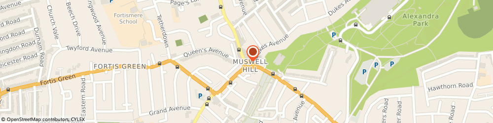 Route/map/directions to north london locksmith, N10 1BY London, 303 Muswell Hill Broadway