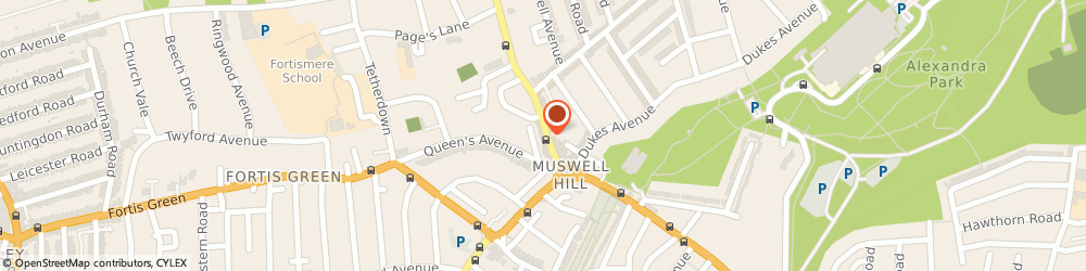 Route/map/directions to Muswell Hill Locksmith, N10 1BY London, 293 Muswell Hill Broadway