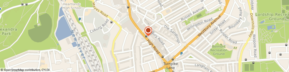 Route/map/directions to Mk One, N22 6BX London, 8, High Road