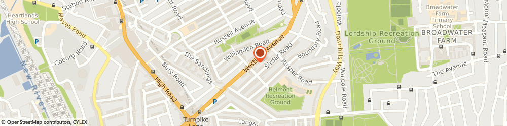 Route/map/directions to Premier Waste Disposal Ltd, N22 6RS London, 36 Westbury Ave, Wood Green