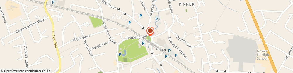 Route/map/directions to Pinner Village Hall, HA5 1AA Pinner, 1 Chapel Lane