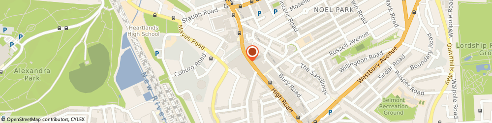 Route/map/directions to Eliza's Kitchen, N22 6YQ London, 159 High Road