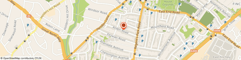 Route/map/directions to Daphne Boden Harp Tuition, N3 3AN London, 36, Arden Road