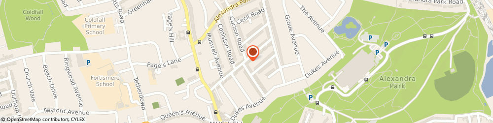 Route/map/directions to Muswell Hill Locksmith, N10 1BU London, 12-14 Muswell Rd