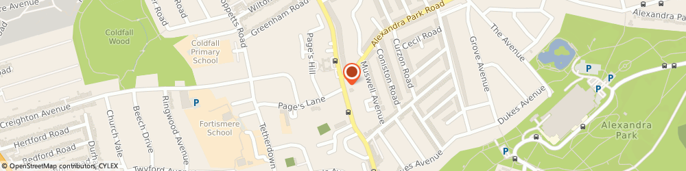 Route/map/directions to Vision Residential Limited, N10 1ER London, 154 Colney Hatch Lane, Muswell Hill